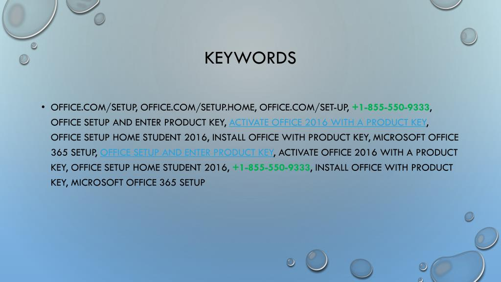 PPT - Office Setup and Enter Product Key | 1-855-550-9333
