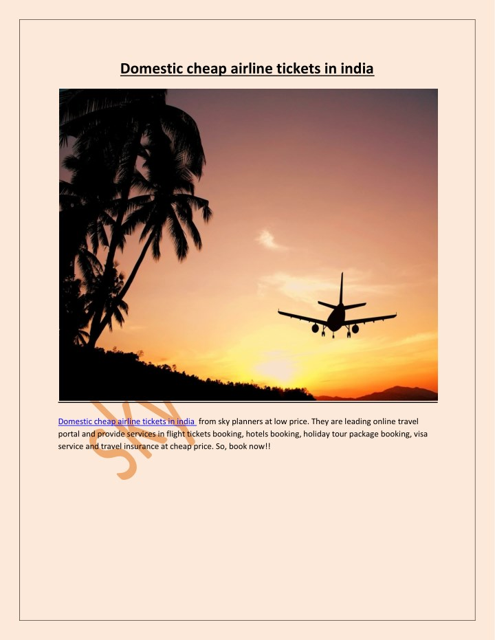 domestic cheap airline tickets in india n.