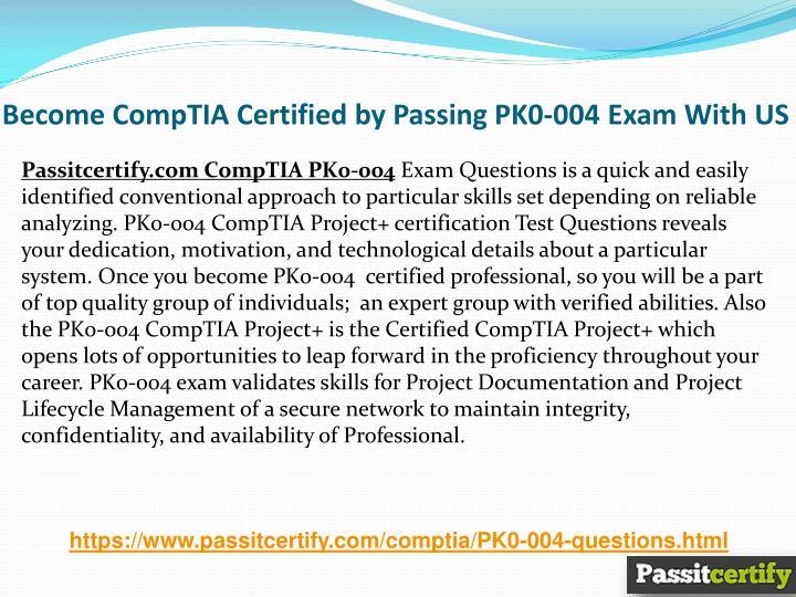 Ppt Comptia Project Pk0 004 Project Management Practice Test