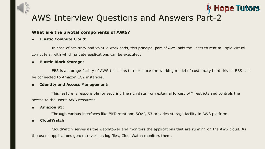PPT - AWS Interview Question and Answers PowerPoint