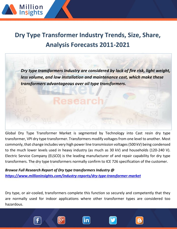 PPT - Dry type transformer market industry revenue analysis