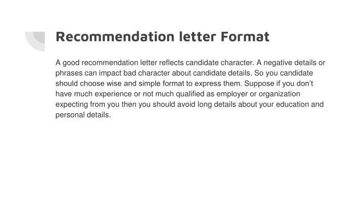 negative letter of recommendation