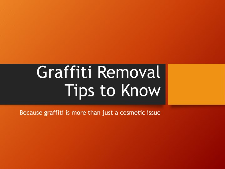 graffiti removal tips to know n.