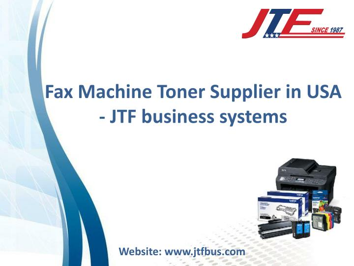 fax machine toner supplier in usa jtf business n.