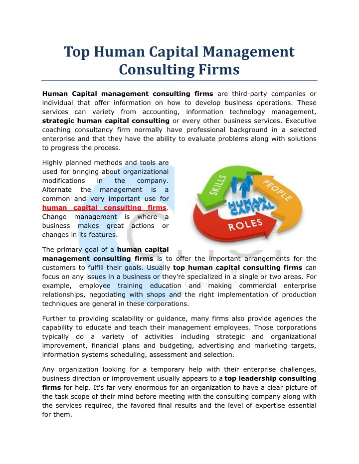 PPT - Top Human Capital Management Consulting Firms PowerPoint