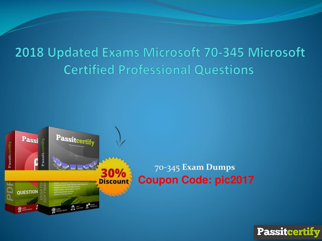 2018 updated exams microsoft 70 345 microsoft certified professional  questions n.