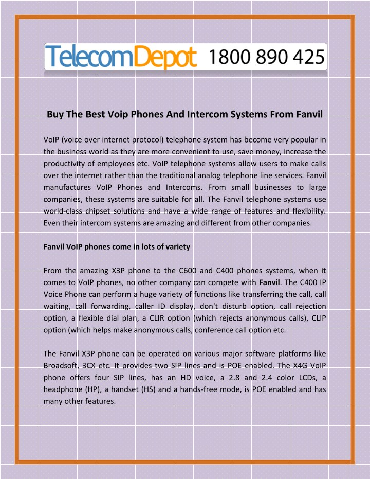 PPT - Buy The Best Voip Phones And Intercom Systems From