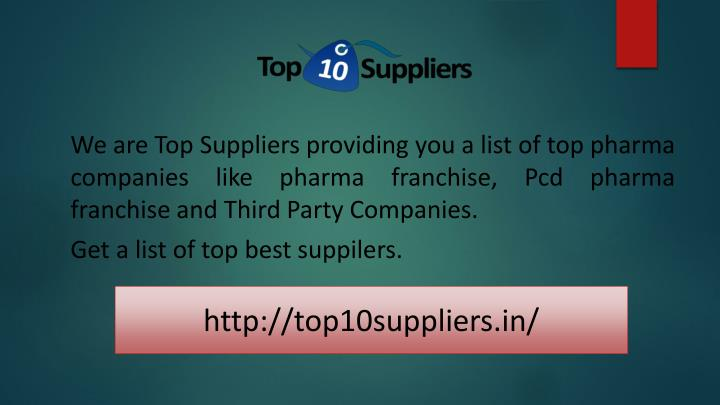 PPT - Pharma Franchise Suppliers & Distributors Companies in