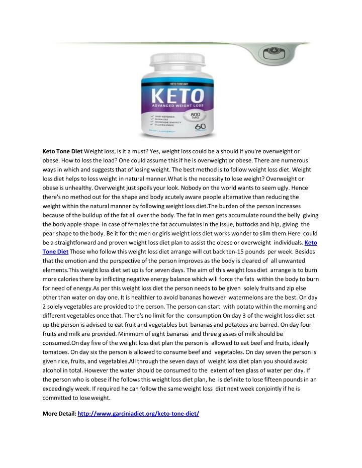 keto tone diet weight loss is it a must n.