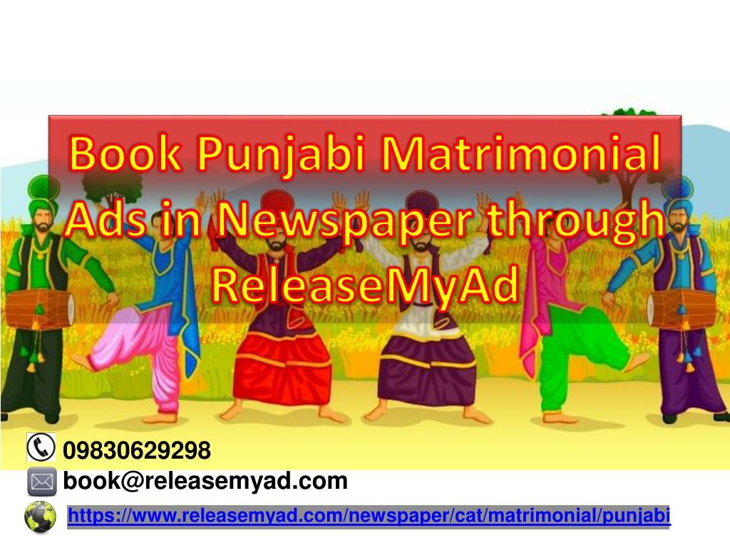PPT Book Punjabi Matrimonial Newspaper Advertisements Instantly - Invoice meaning in punjabi