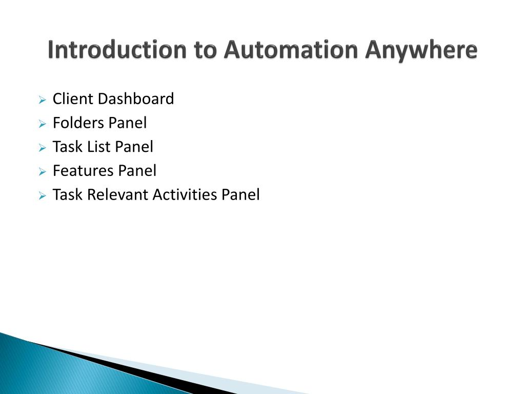 PPT - Rpa automation anywhere Training in Hyderabad PowerPoint