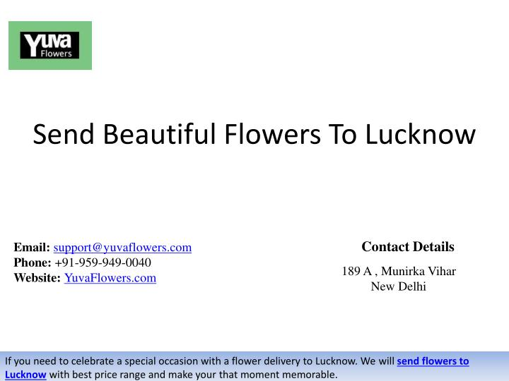 send beautiful flowers to lucknow n.