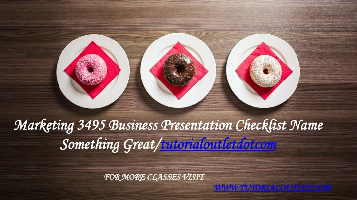 marketing 3495 business presentation checklist n.