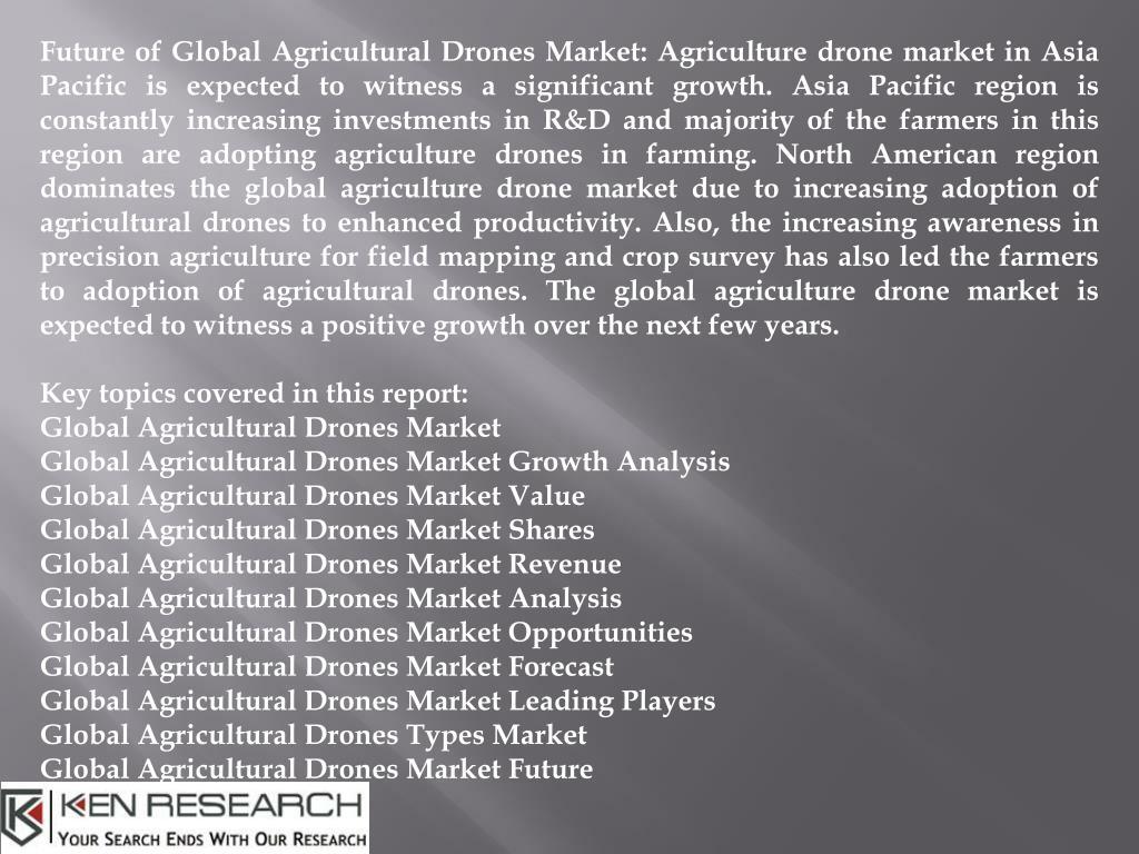 PPT - Global Agricultural Drones Market, Market Growth