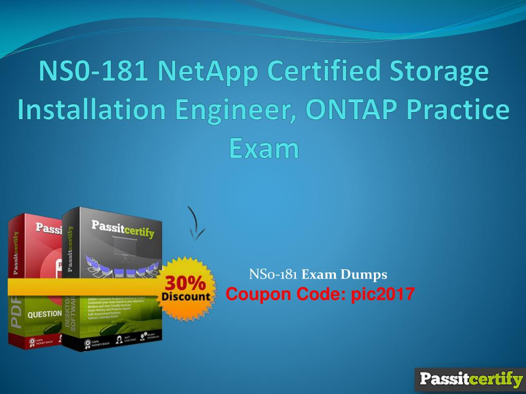 Ppt Ns0 181 Netapp Certified Storage Installation Engineer Ontap