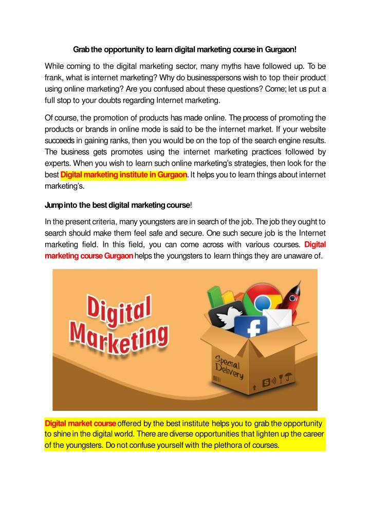 grab the opportunity to learn digital marketing n.