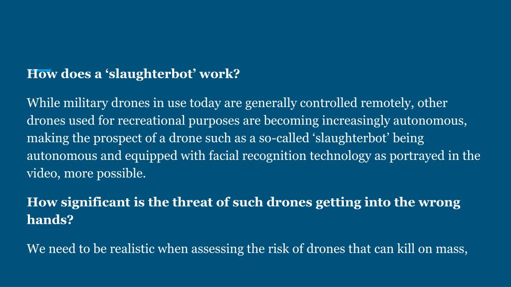 PPT - THE FUTURE OF DRONES IN WARFARE PowerPoint