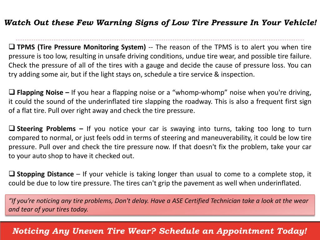 PPT - Don't Forget these 5 Warning Signs of Low Tire