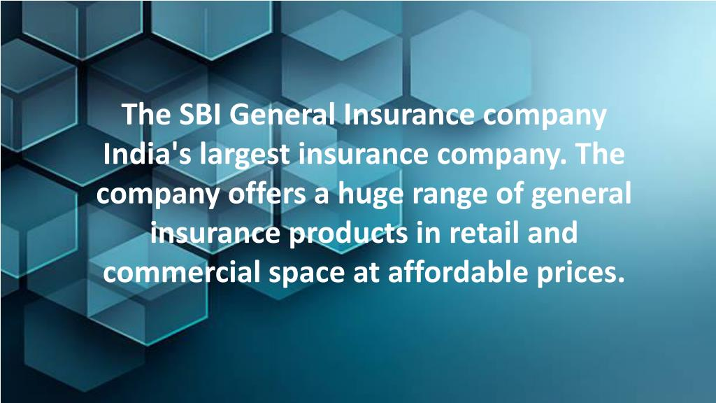 PPT - SBI General Insurance Company PowerPoint ...