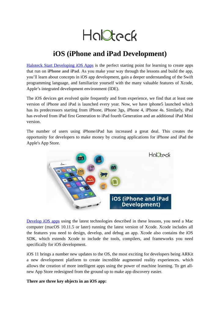 PPT - iOS (iPhone and iPad Development) PowerPoint