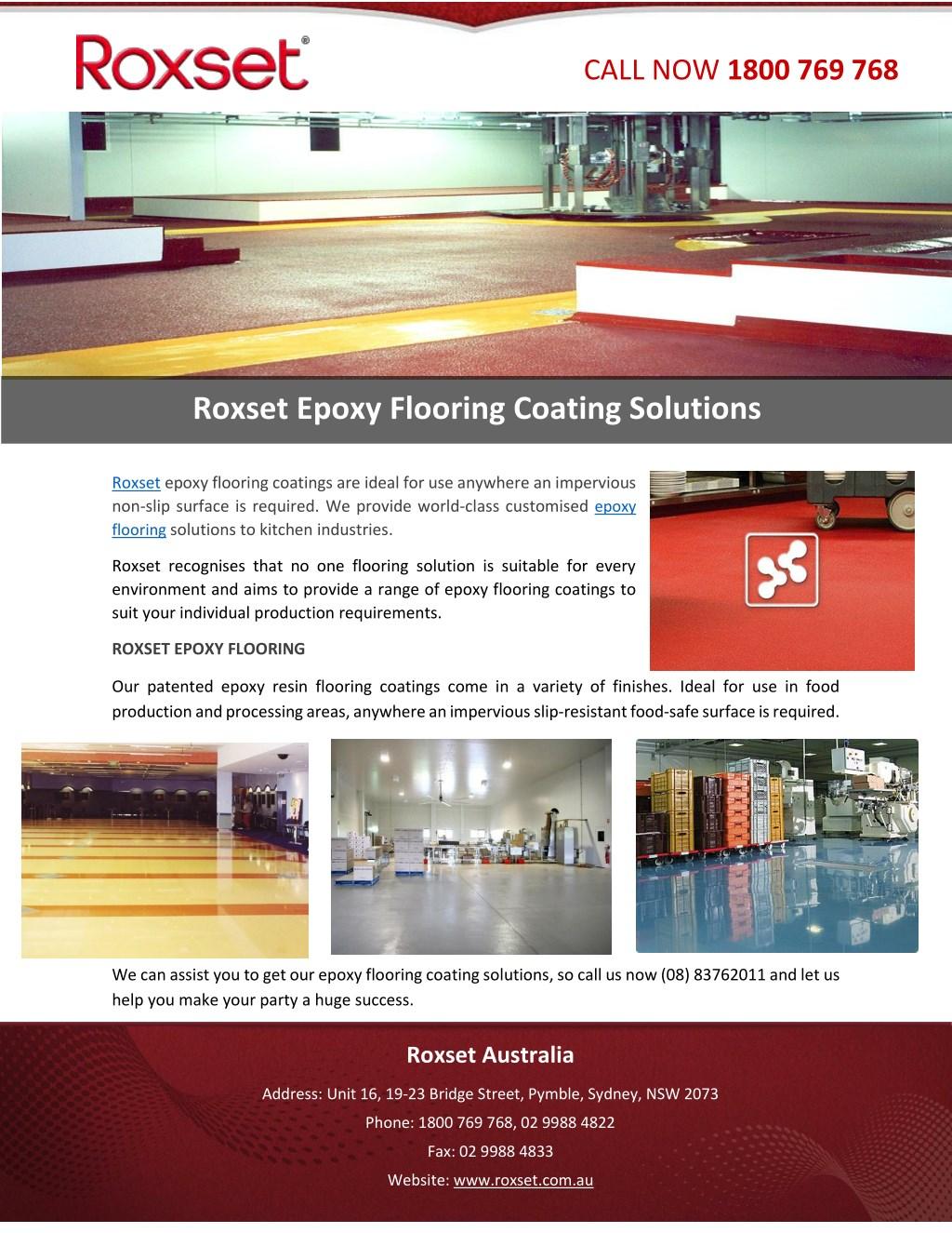 PPT - Roxset Epoxy Flooring Coating Solutions PowerPoint
