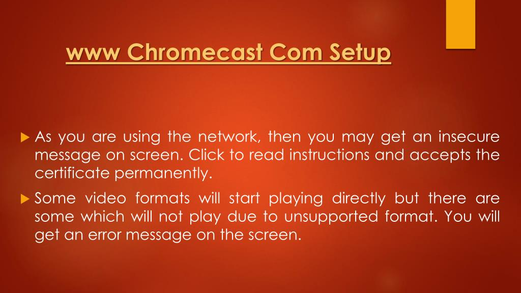 PPT - Beam Videos From VLC To Chromecast Media Player