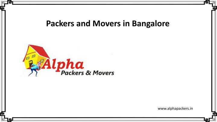 packers and movers in bangalore n.