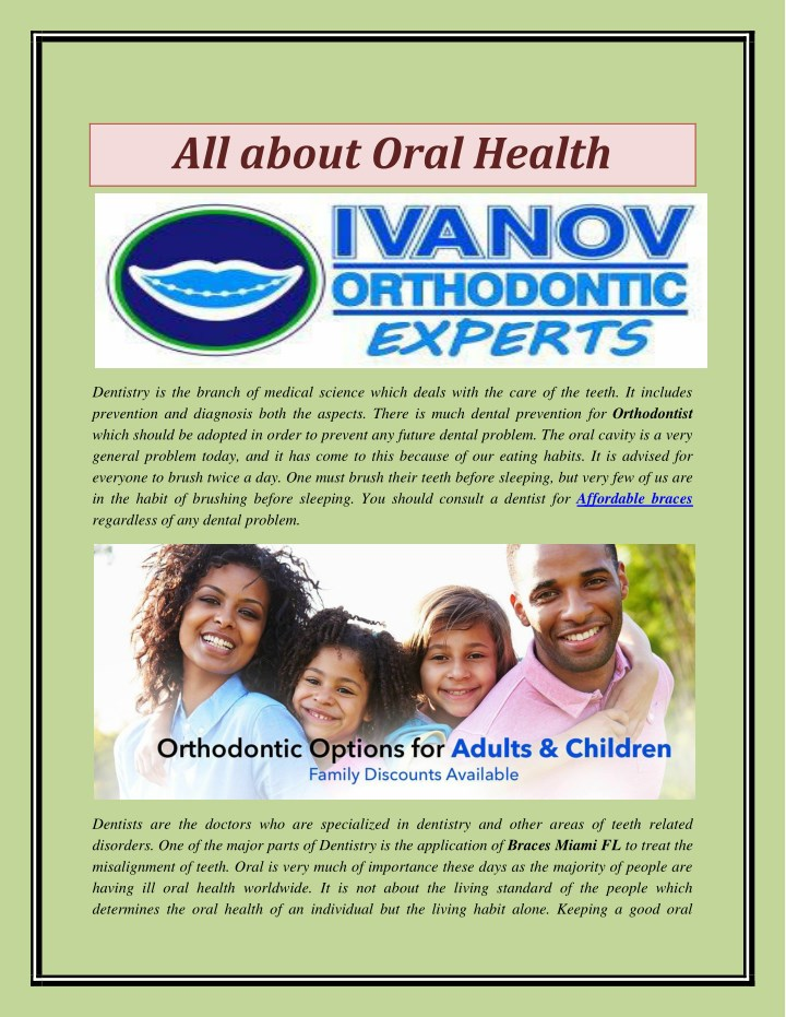 all about oral health n.