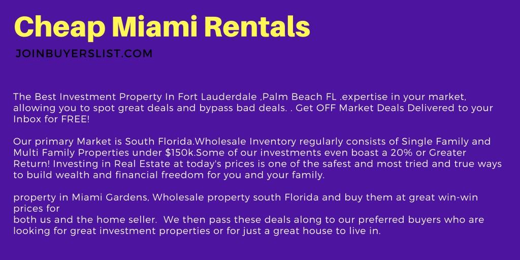 PPT - Cheap Miami Rentals-joinbuyerslist com PowerPoint