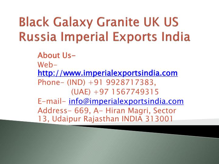 black galaxy granite uk us russia imperial exports india n.