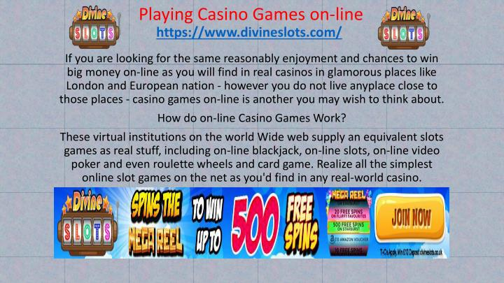 playing casino games on line n.