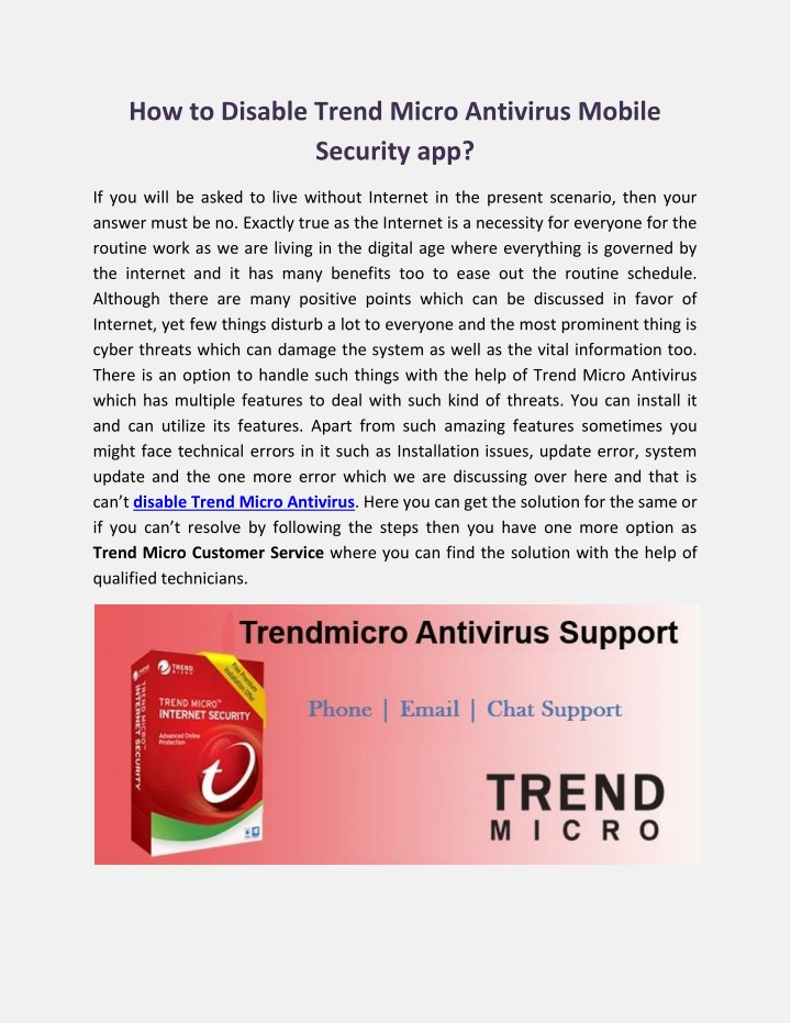 PPT - How to Disable Trend Micro Antivirus Mobile Security