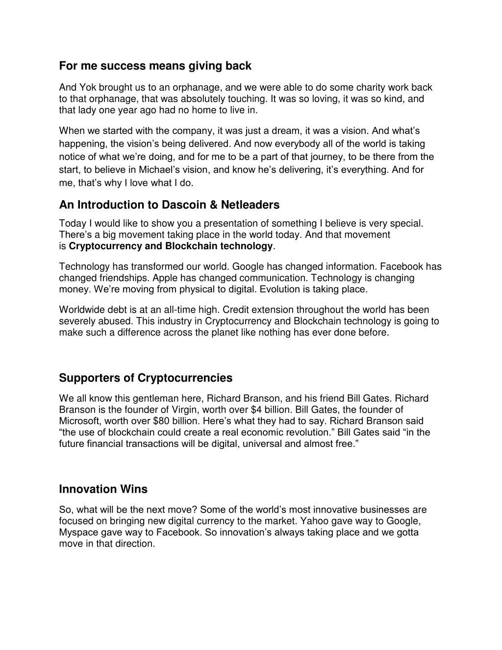 PPT - Paul McCarthy - Dascoin & Bitcoin Expert Cork