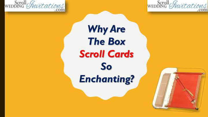 why are the box scroll cards so enchanting n.