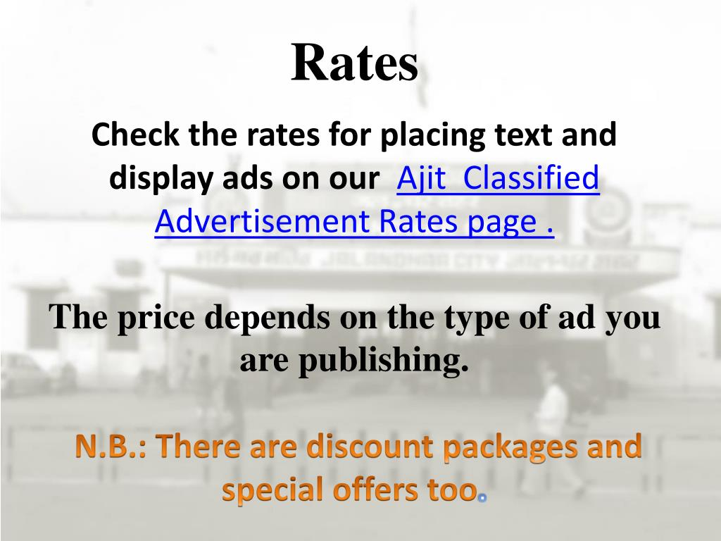 PPT - Ajit Classified & Display Advertisement Online Booking
