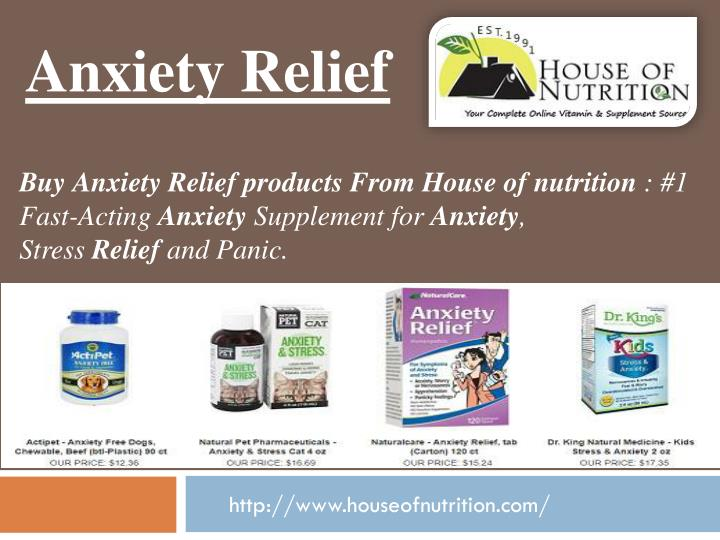anxiety relief n.