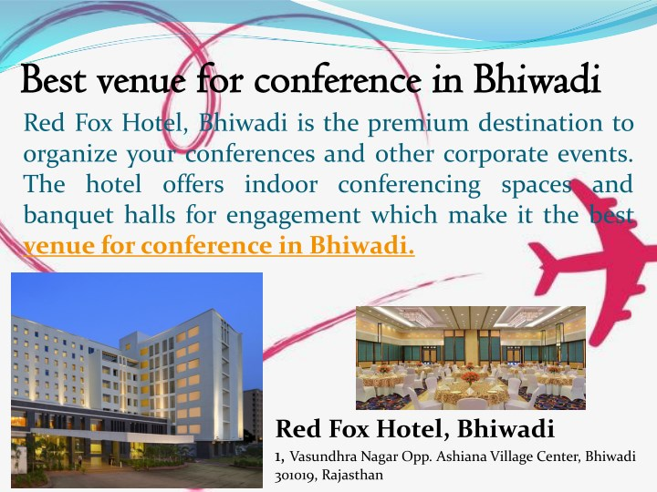 best venue for conference in bhiwadi best venue n.