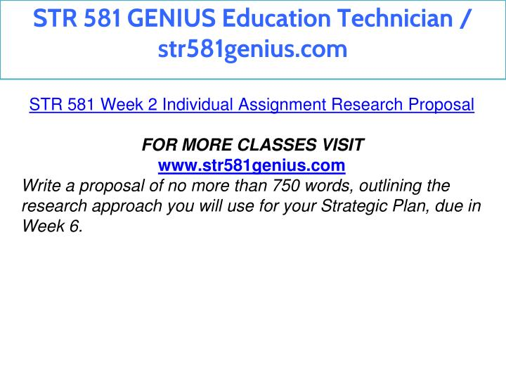 str581 research proposal Wordpress shortcode link str 581 week 2 research proposal 187 views share academic research foundations: quantitative online course - linkedin learning learning management systems (lms) quick start.