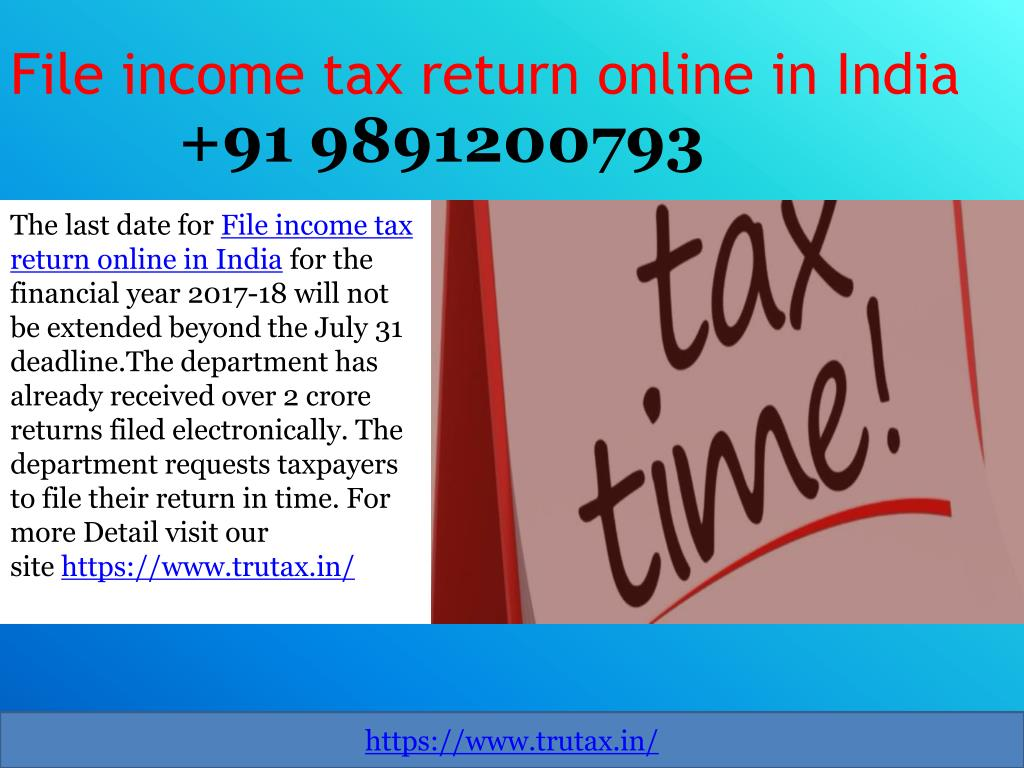 PPT - File income tax return online in India 09891200793 by