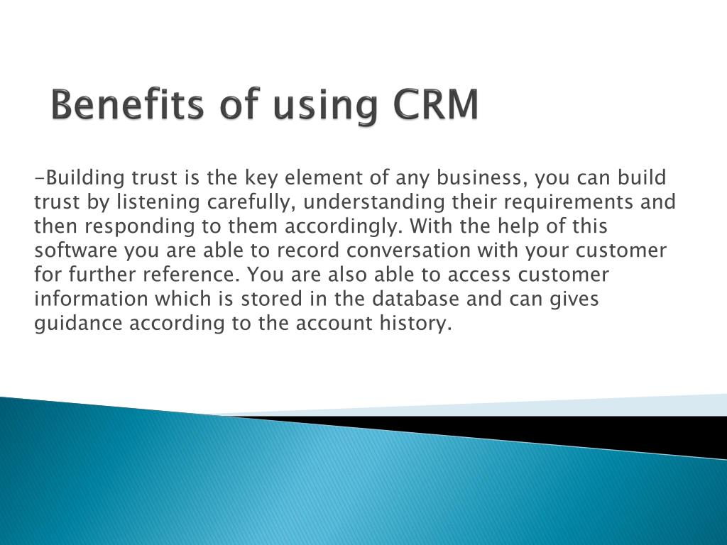 PPT - CRM software: useful tool for building business