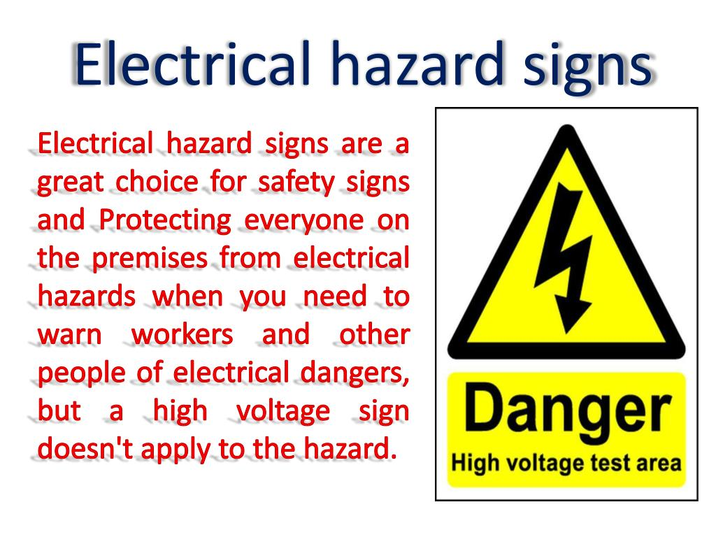Electrical hazards intended to be used with safety basics handbook.