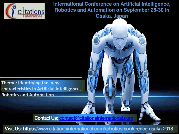 PPT - Artificial Intelligence, Robotics and Automation