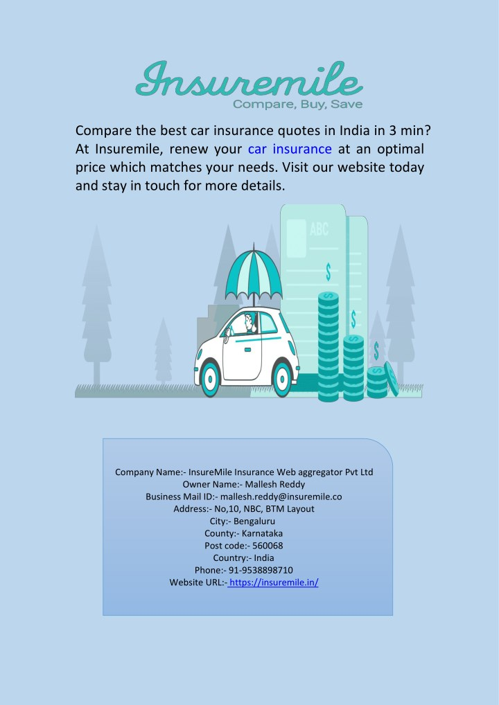 compare the best car insurance quotes in india n.