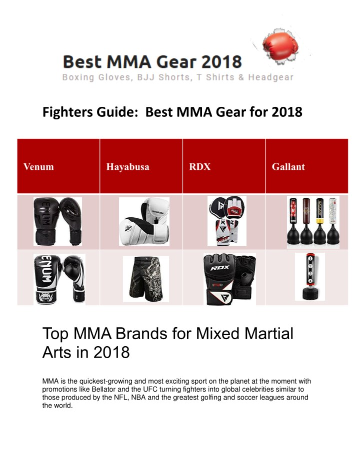 fighters guide best mma gear for 2018 n.