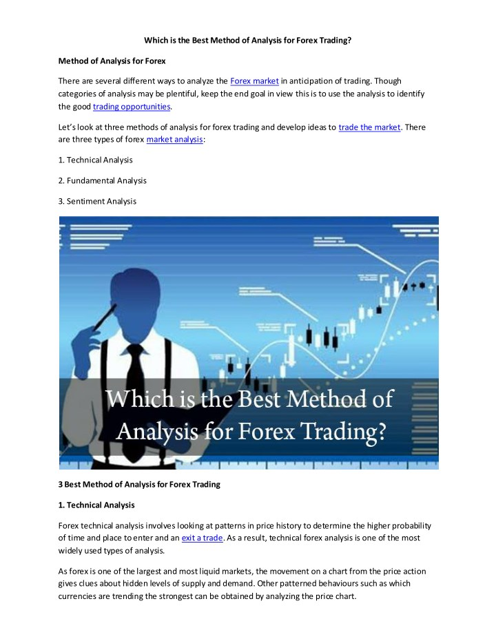 which is the best method of analysis for forex n.