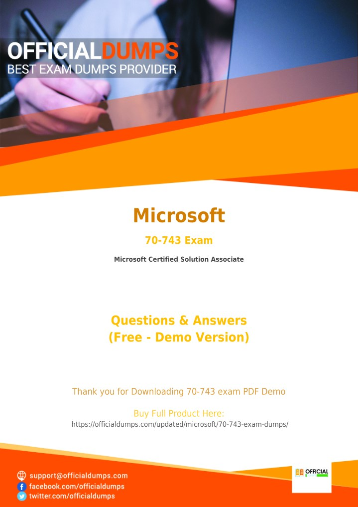 Ppt 70 743 Dumps Pass In 1st Attempt With Valid Microsoft Mcsa
