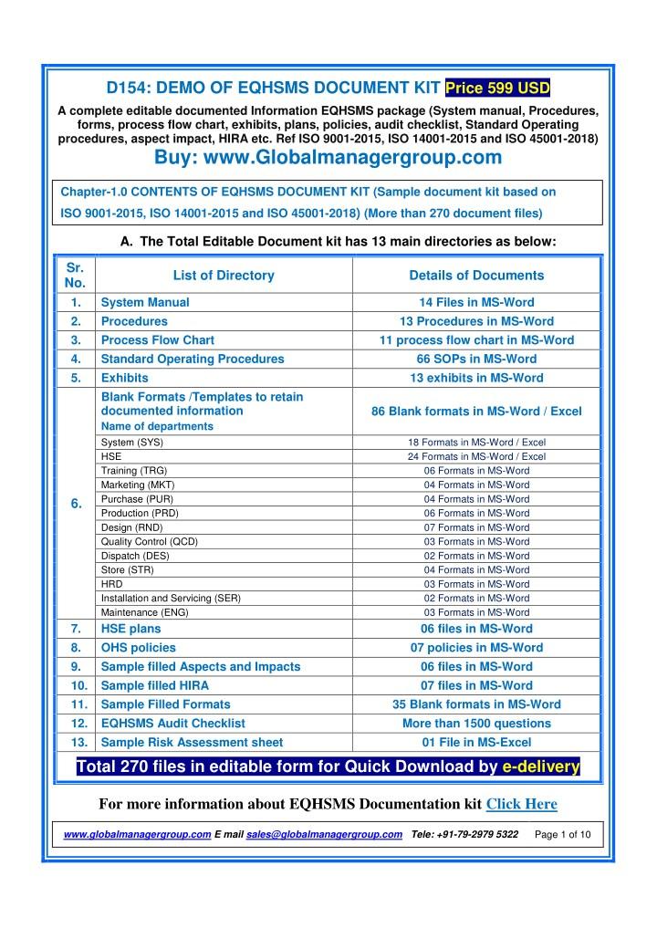 iso 14001 internal audit procedure