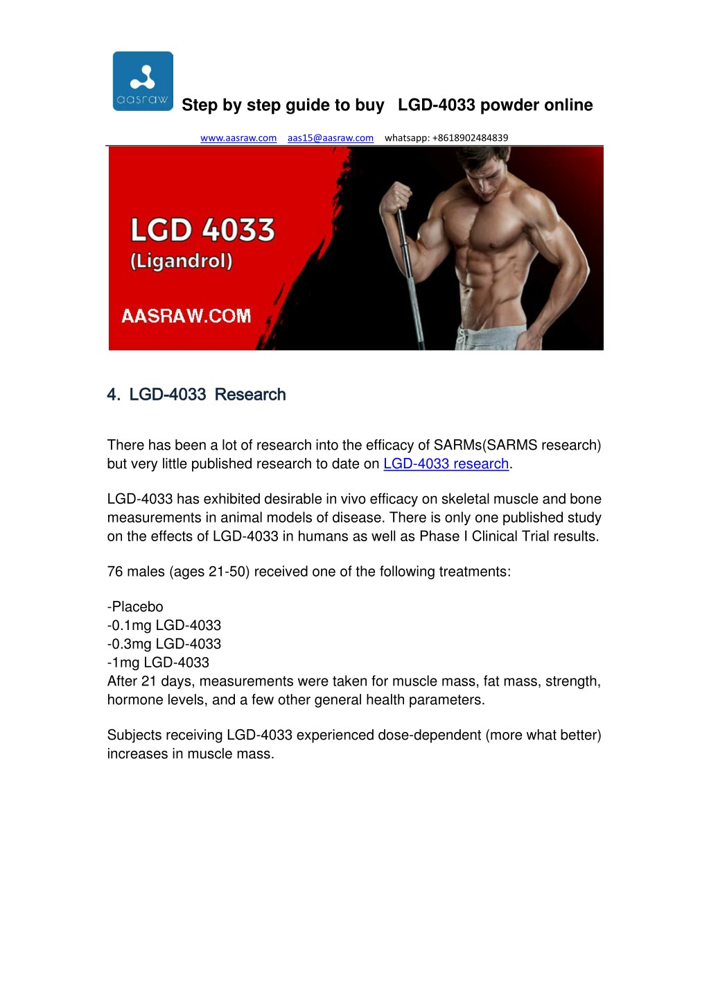 PPT - Step by Step Guide to Buy LGD-4033 Powder Online