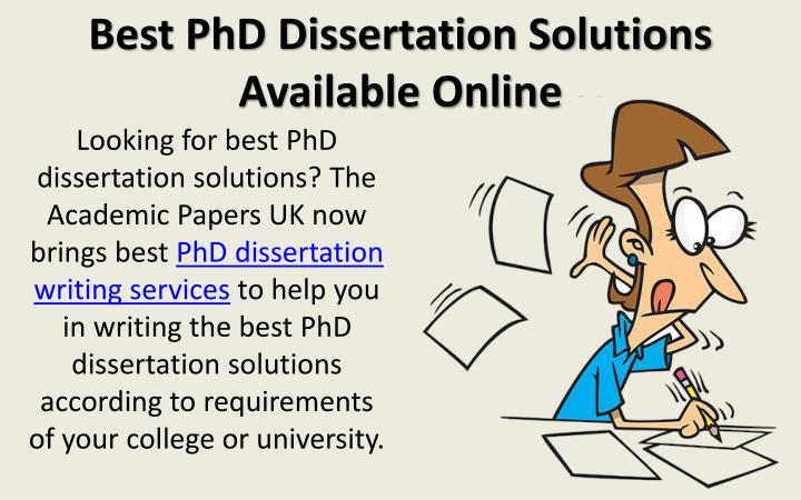 phd dissertation writing help Dissertation writing services ultius is considered the best and most dependable model dissertation writing service in the industry since 2010 if you are an individual who needs help in putting together a dissertation as quickly as possible, you can use our outstanding writing team to help you advance your career.