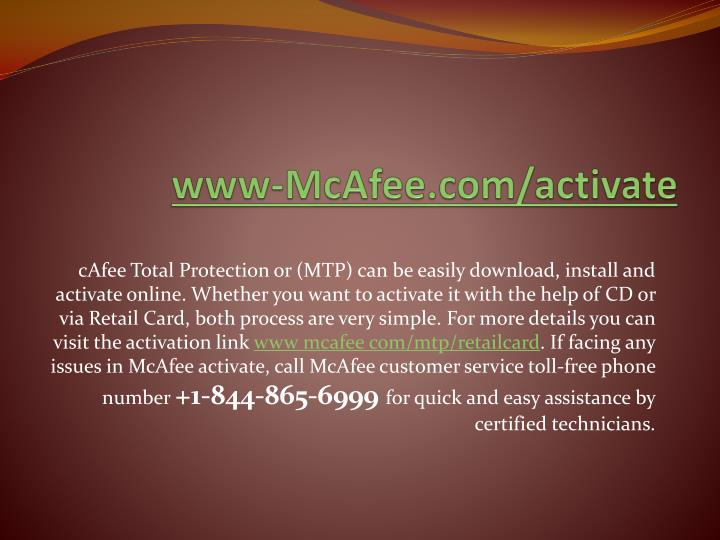 PPT - Instant mcafee install & activate visit www mcafee com